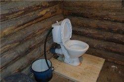 Туалетна кімната люфт-клозету може розташовуватися безпосередньо в будинку.