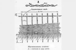 Приклад плетіння забору в одну гілку
