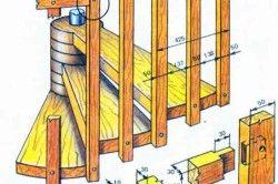 Схема кріплення сходинок для гвинтових деревяних сходів