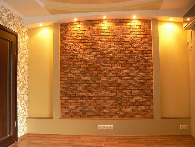 Фото - Внутрішнє облицювання стіни з цегли