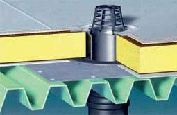 водовідведення з плоских дахів