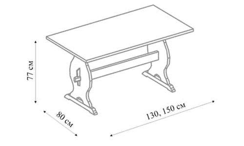 Креслення столика для сауни