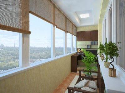 Вбудовані меблі для балкона