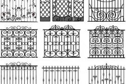 Орнаменти для кованих парканів