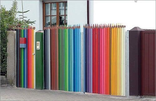 Огорожа з олівців
