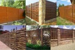 Види деревяних парканів