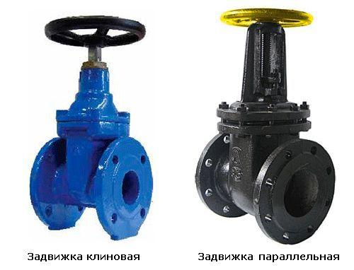 Види водопровідних засувок