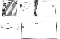 Схема пошиття жорсткого ламбрекену