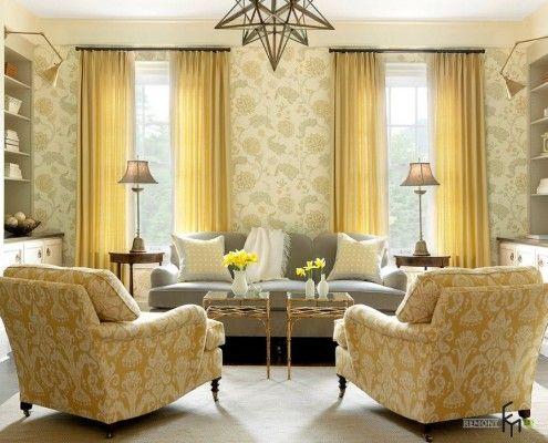 Жовті штори у жовтій кімнаті