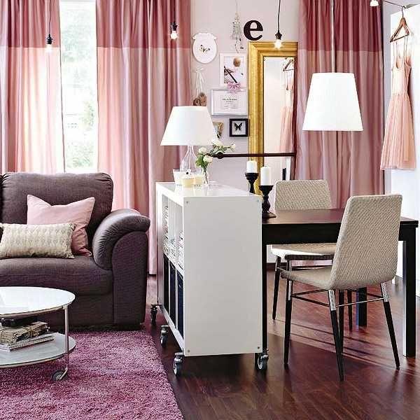 Зонування вітальні за допомогою меблів